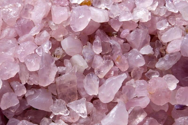 Blocs naturels de quartz rose