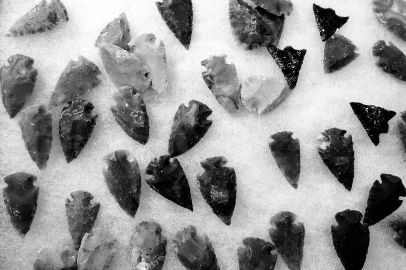 Flèches taillées d'obsidienne