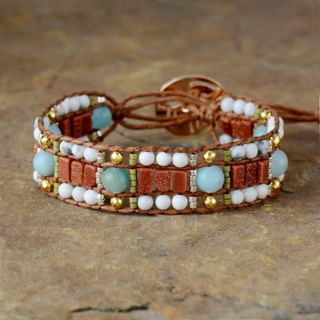 Bracelet Apaisant Bijoux pierre naturelle Bracelet pierre naturelle