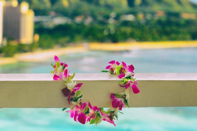 Collier de fleurs à hawaii
