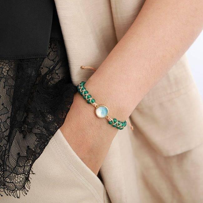 Bracelet de Confiance en Soi en Onyx Vert