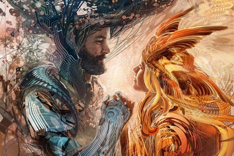 Un homme et une femme representant le concept d'âme soeur