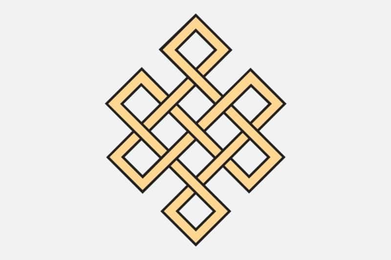 Nœud éternel symbole du bouddhisme