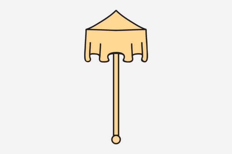 Le parasol symbole bouddhiste