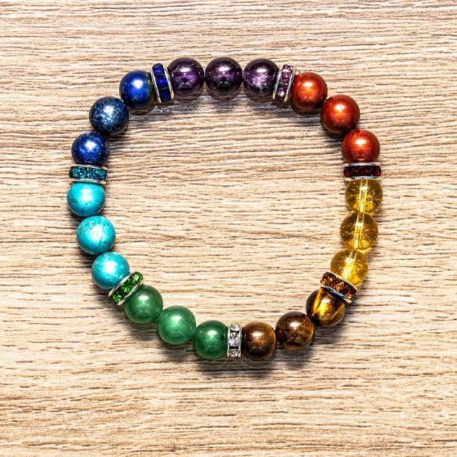 Bracelet 7 Chakras Artisanal Bijoux en pierre naturelle Bracelet en pierre naturelle