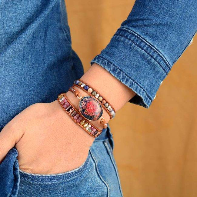 Bracelet Jaspe Céleste