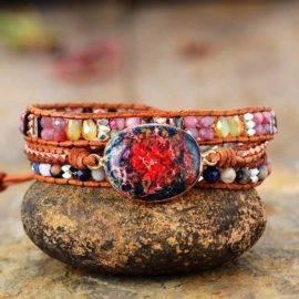 Bracelet Pierre Naturelle Jaspe Céleste Bijoux pierre naturelle Bracelet pierre naturelle 7b4360cf86f5b396944f6e: Brun clair