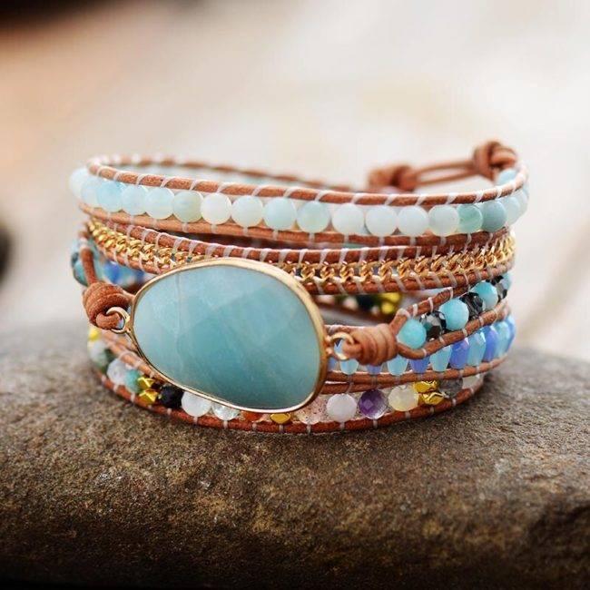 Bracelet Océan d'Amazonite