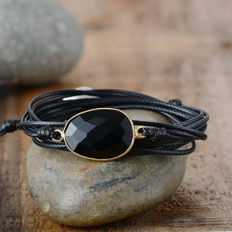 Bracelet Onyx Noir Boho