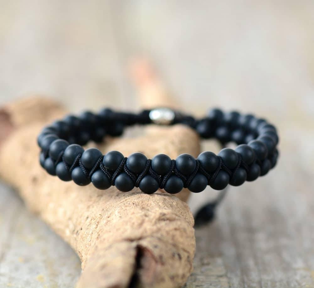 Bracelet Onyx Noir Homme