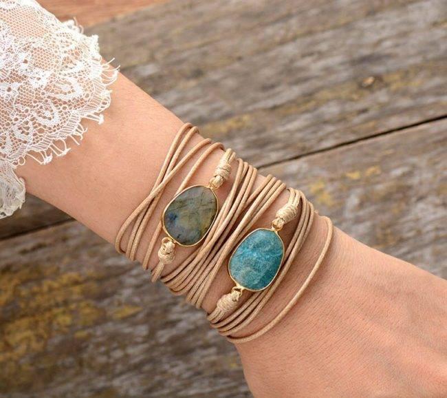 Bracelet Pierre Naturelle Amazonite Bijoux pierre naturelle Bracelet pierre naturelle