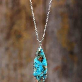Pendentif Goutte de Turquoise
