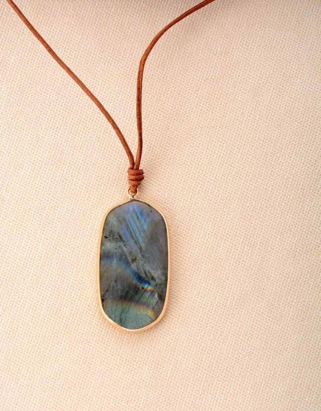 Collier Labradorite de Créativité Bijoux pierre naturelle Collier pierre naturelle