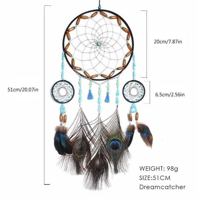 Attrape-rêves plumes de paon