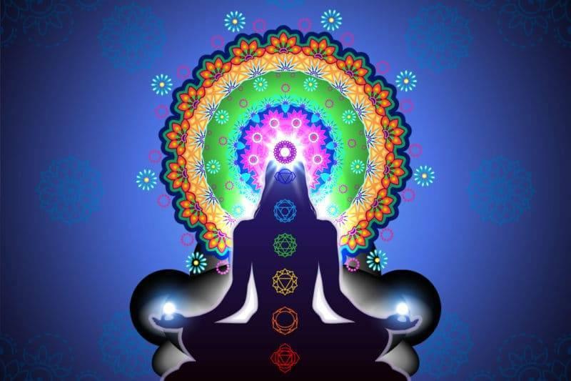 Dessin de la méditation avec les chakras