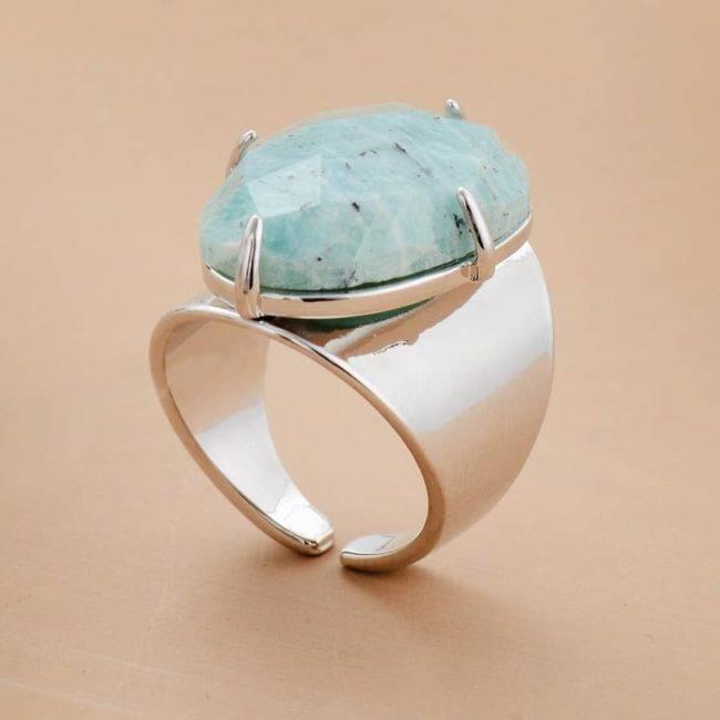 Bague Amazonite Bague pierre naturelle Bijoux pierre naturelle