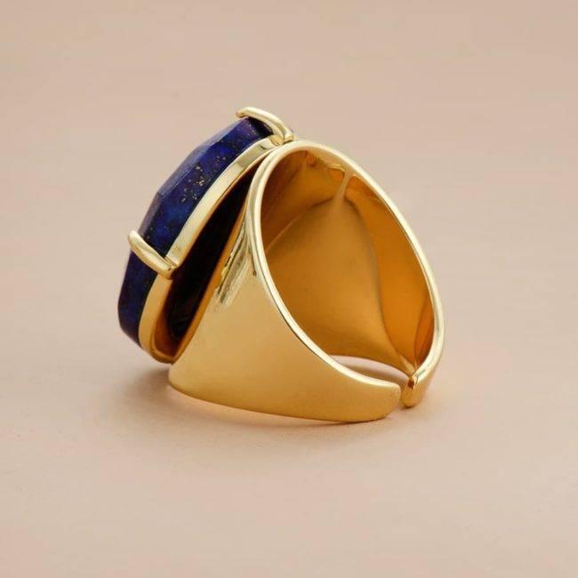 Bague Enveloppante en Lapis Lazuli