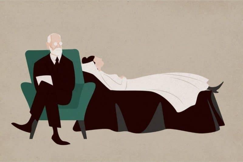 Freud, séance de psychothérapie.