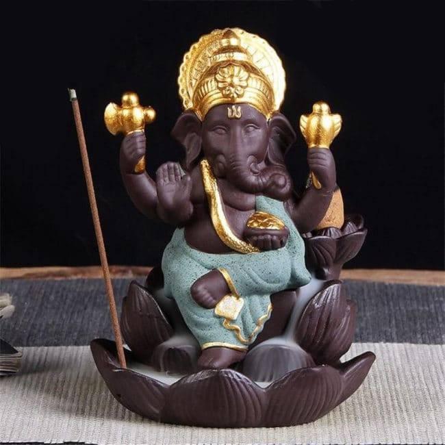 Brûleur Encens Ganesh Porte encens Porte Encens Bouddha Porte Encens Céramique