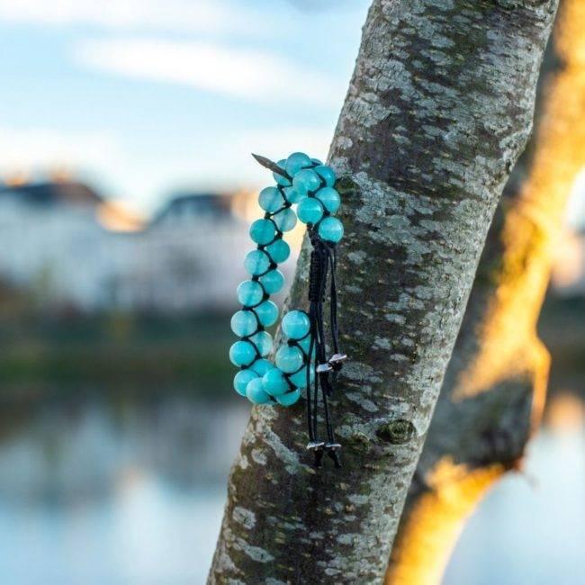 Bracelet Double Rang En Amazonite