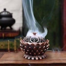 Brûleur Encens Précieux Lotus Porte encens