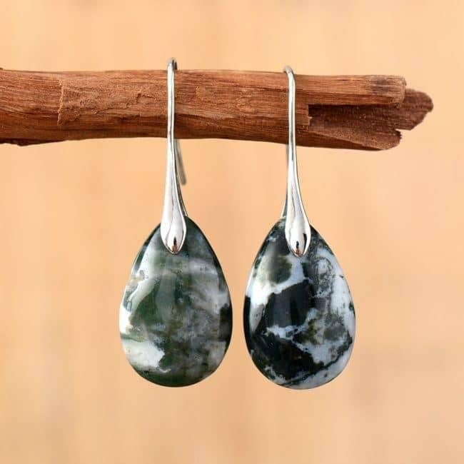 Boucles D'oreilles Gouttes En Onyx Bijoux en pierre naturelle Boucles d'oreilles en pierres naturelles