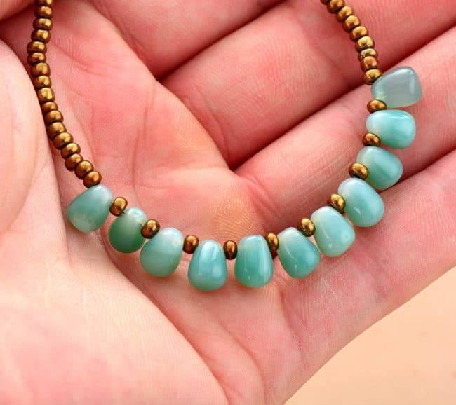 Bracelet Gouttes Perles D'Onyx Bijoux en pierre naturelle Bracelet en pierre naturelle