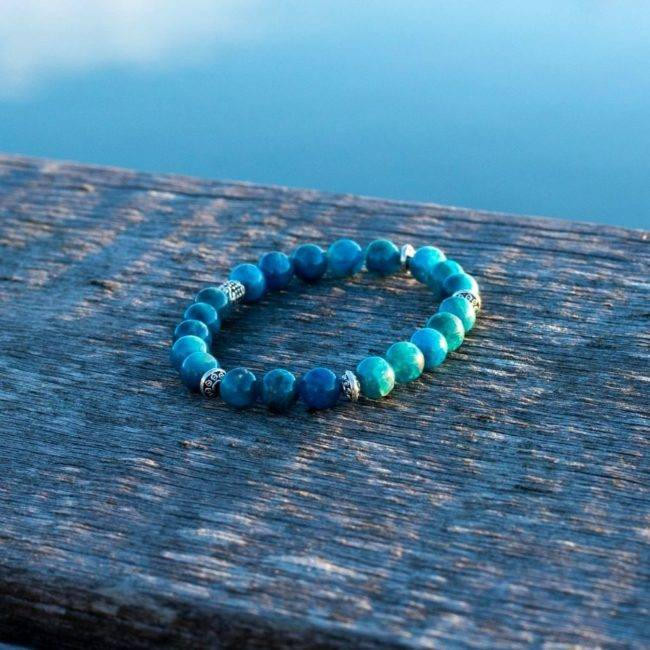 Bracelet En Apatite Pour Maigrir Bijoux en pierre naturelle Bracelet en pierre naturelle