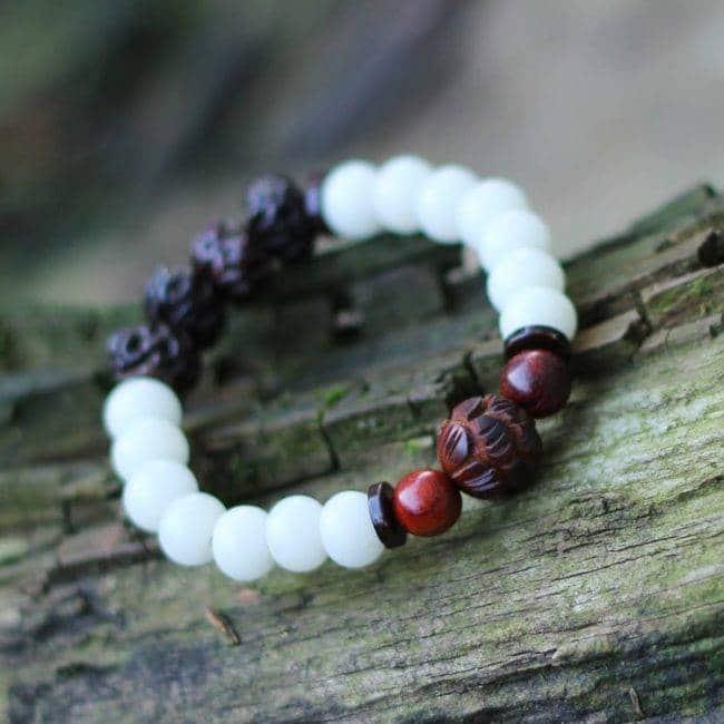 Bracelet en Cristal de Roche Argenté Bijoux pierre naturelle Bracelet pierre naturelle