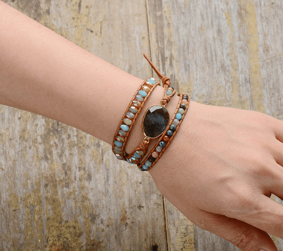 Bracelet Labradorite Gemme Bijoux pierre naturelle Bracelet pierre naturelle