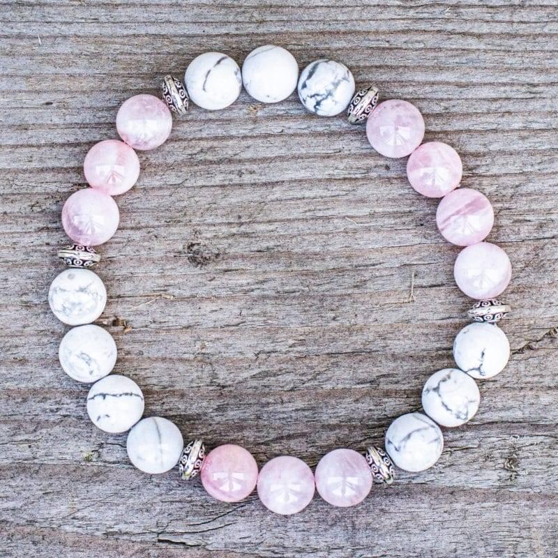Bracelet Quartz Rose Et Howlite 15