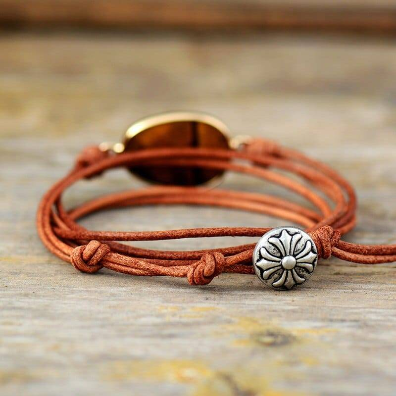 Bracelet œil de tigre infini Bijoux pierre naturelle Bracelet pierre naturelle Pierre: Œil de tigre
