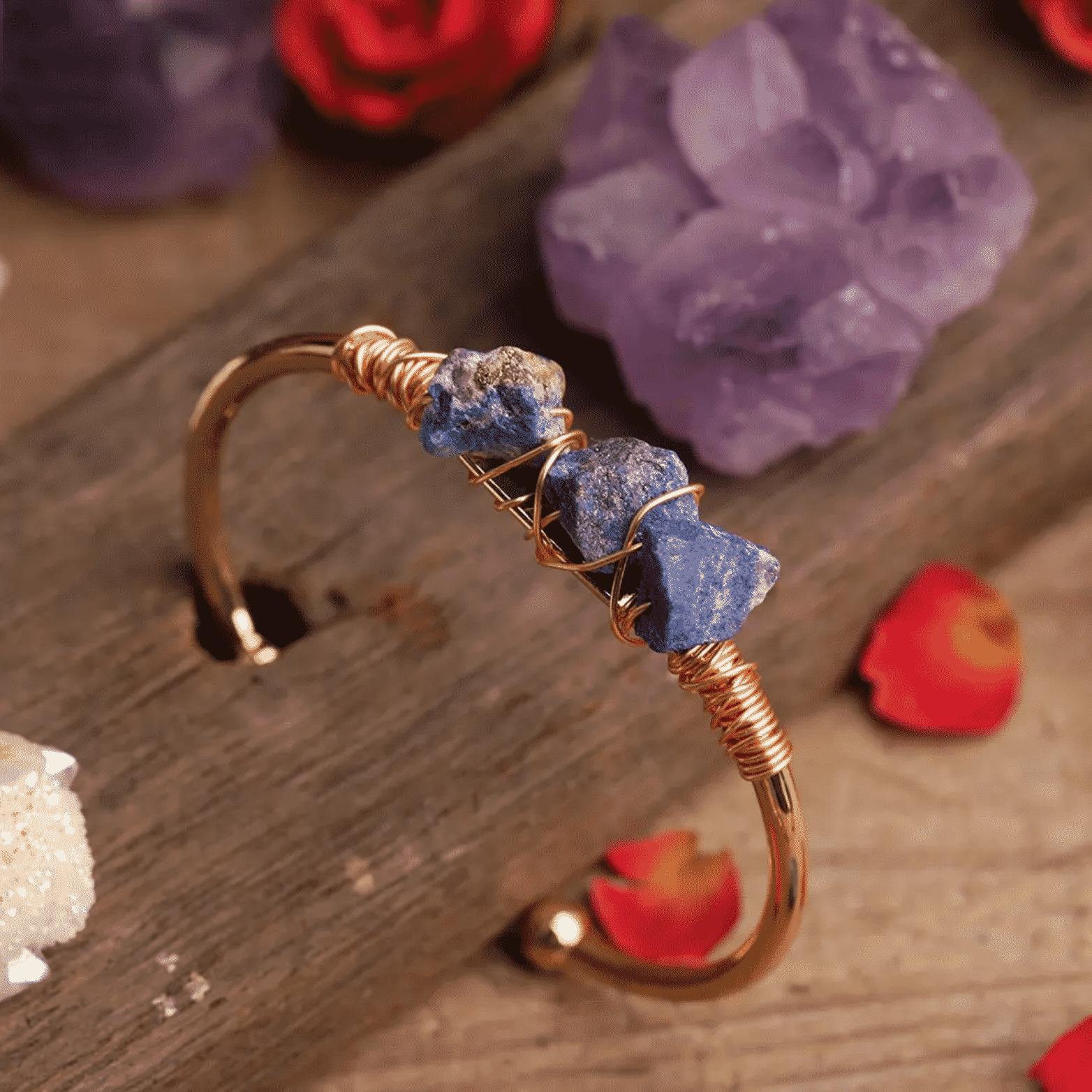 Bracelet en pierre de tourmaline Bijoux en pierre naturelle Bracelet en pierre naturelle
