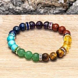 Bracelet 7 chakras artisanal