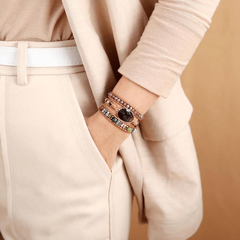 Bracelet Améthyste Sagesse Bijoux pierre naturelle Bracelet pierre naturelle