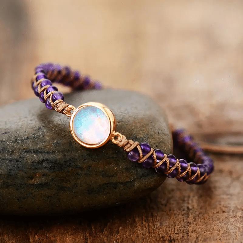 Insertion Blog : Bracelet d'équilibre en améthyste https://www.chakras-shop.com
