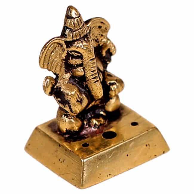 Brûleur Encens Ganesh De Bronze Porte encens Porte Encens Bouddha