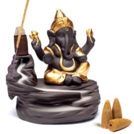 Porte encens cascade Ganesh Porte encens Porte Encens Bouddha Porte Encens Cascade Porte Encens Céramique