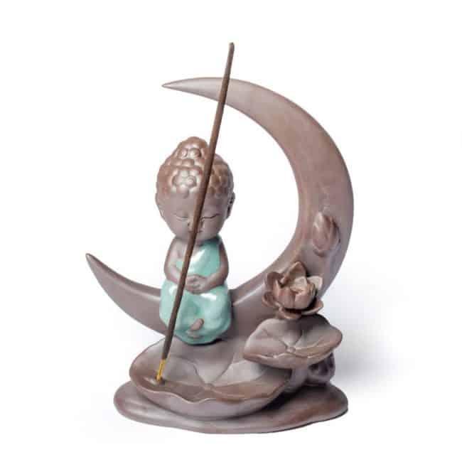 Porte Encens Bouddha »Lune» Porte encens Porte Encens Bouddha Porte Encens Céramique
