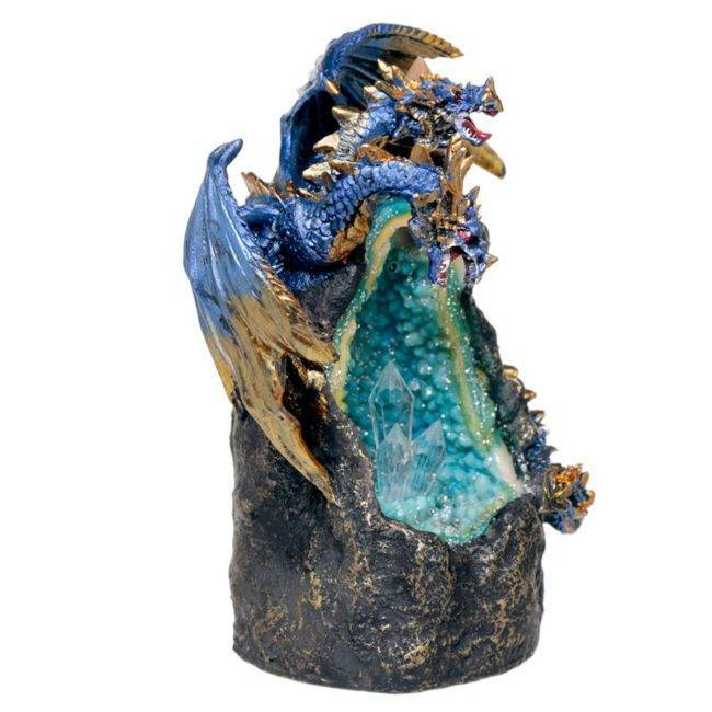 Porte encens dragon bleu Porte encens Porte Encens Cascade Porte Encens Design Porte Encens Dragon