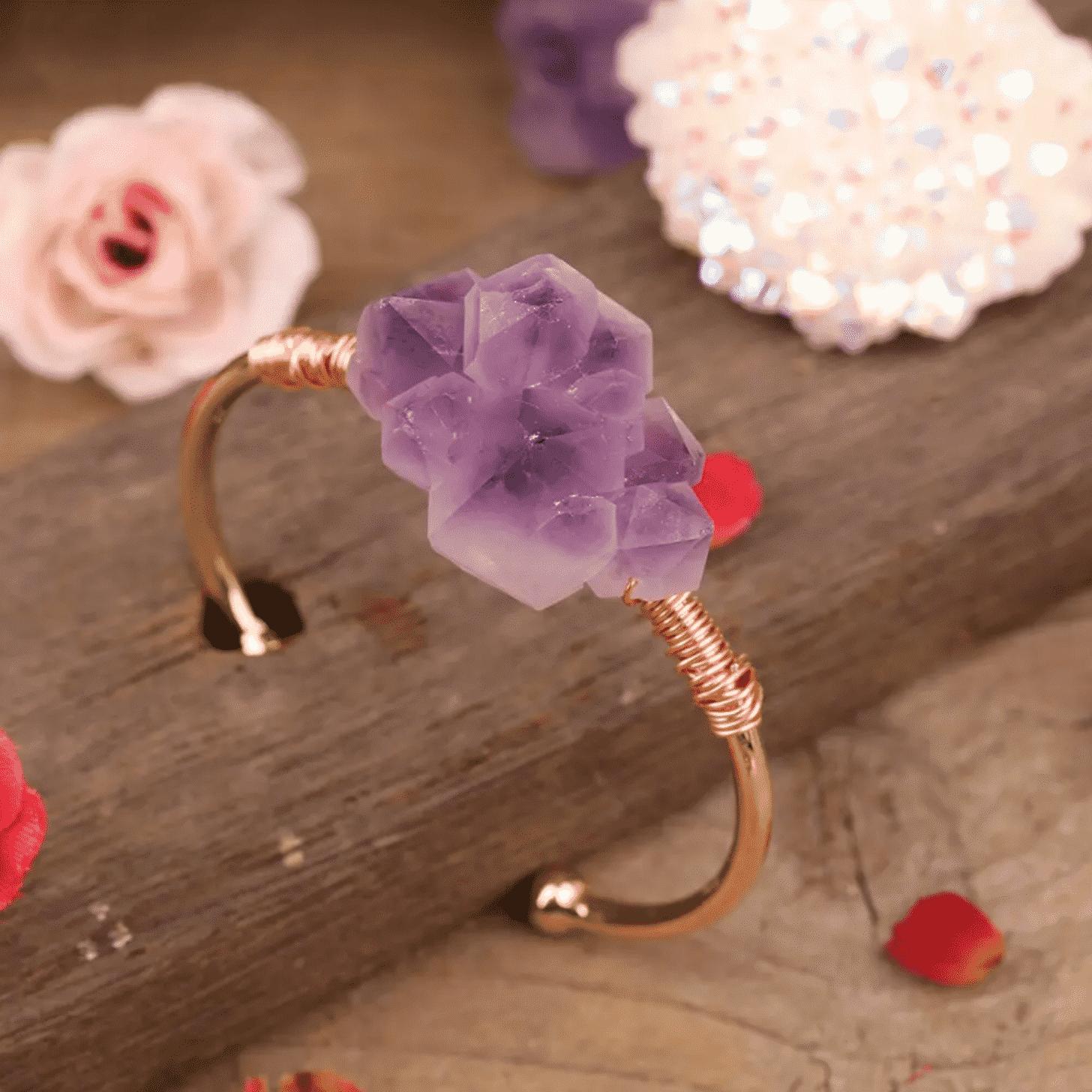 Bracelet en pierre d'améthyste