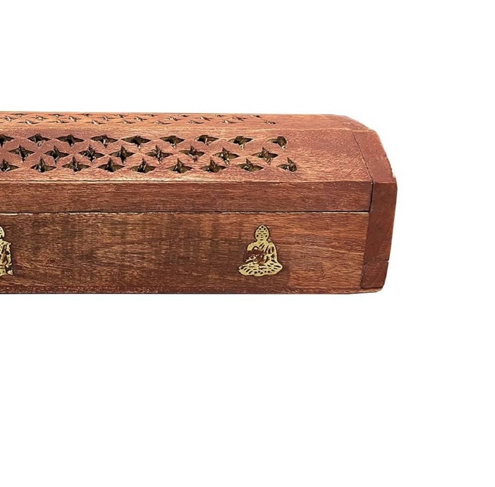 Coffre en bois porte encens Bouddha https://www.chakras-shop.com