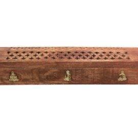Coffre en bois porte encens Bouddha