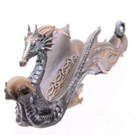 Bruleur Encens Dragon Argenté Porte encens Porte Encens Design Porte Encens Dragon