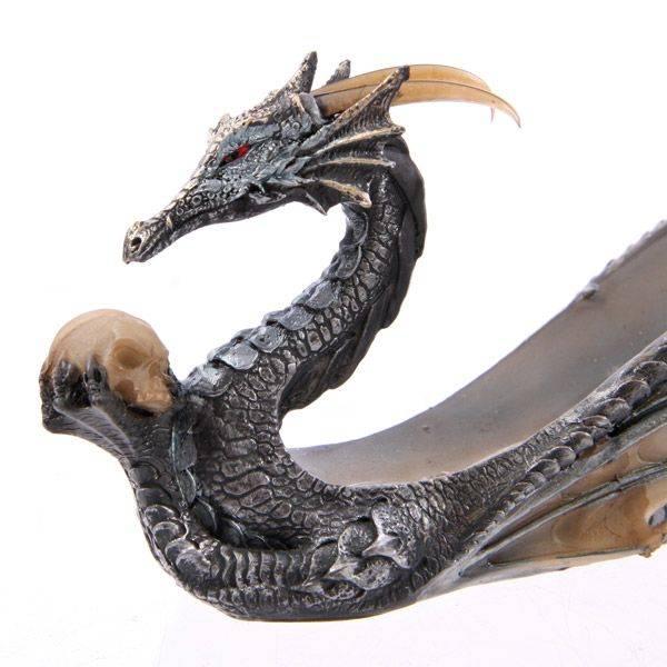 Bruleur Encens Dragon Argenté Déstockage Porte encens Porte Encens Design Porte Encens Dragon