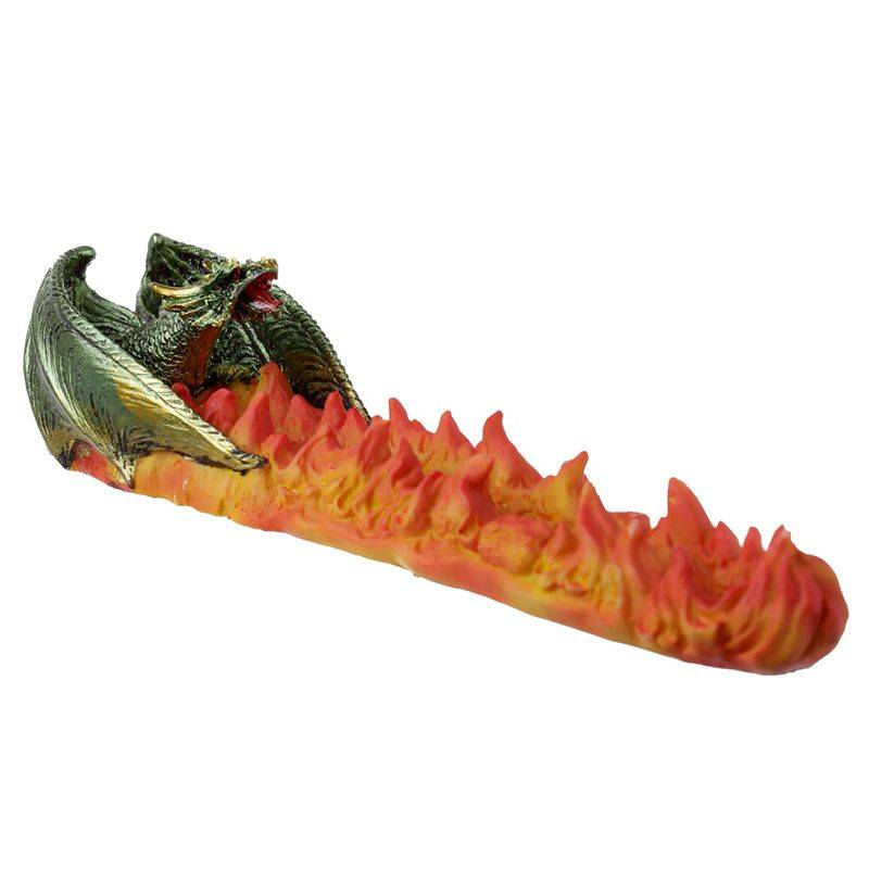 Brûleur Encens Dragon Enflammé Porte encens Porte Encens Design Porte Encens Dragon