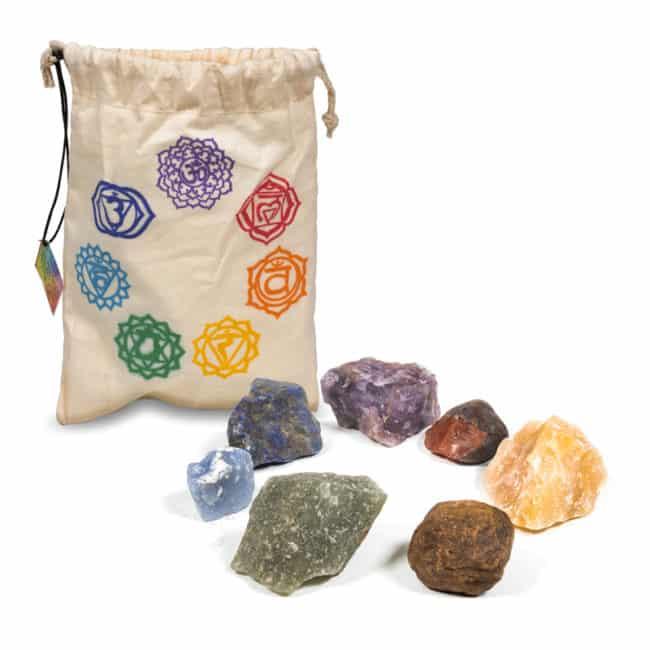 Kit de pierre brut 7 chakras Pierres de soin