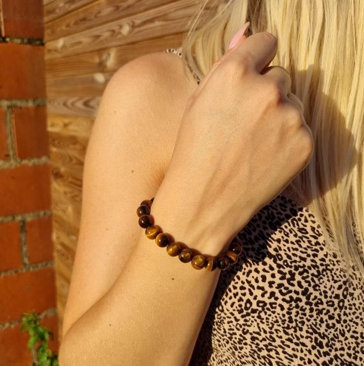 Bracelet artisanal en Œil de Tigre https://www.chakras-shop.com