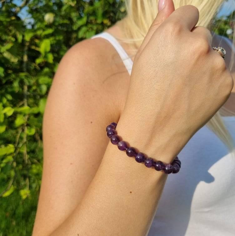 Bracelet Artisanal en Améthyste https://www.chakras-shop.com