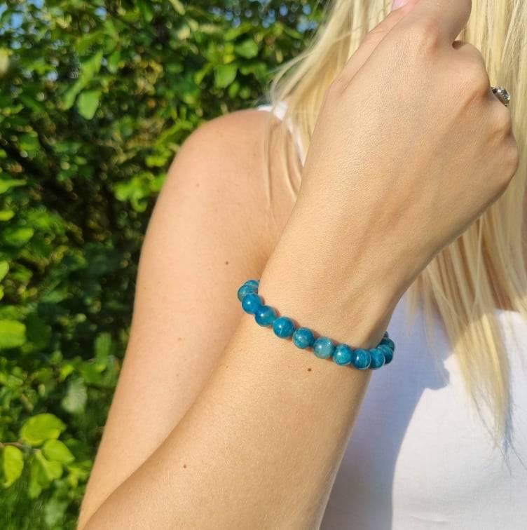 Bracelet Artisanal en Apatite